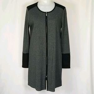 Zip front Sweater Dress or Duster/ Cardigan sz Sm